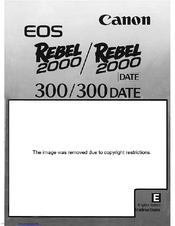 canon eos rebel 2000 instruction manual pdf download rh manualslib com Canon Digital Rebel Manual Canon EOS Rebel Instruction Manual