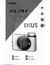 Canon Digital ELPH Instruction Manual