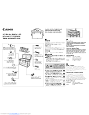 Canon 7920A001 - GL 2 Camcorder Instruction Manual