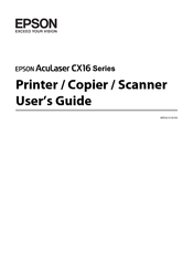 Epson Aculaser CX16NF User Manual