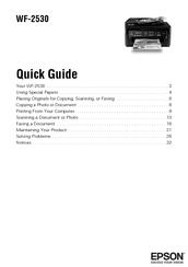 Epson WF-2530 Quick Manual