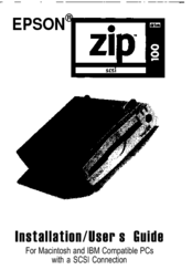 Epson Zip-100 Installation & User Manual