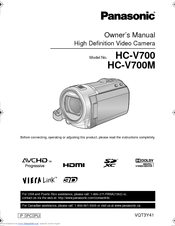 Panasonic HC-V700K Owner's Manual
