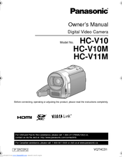 Panasonic HC-V10 Owner's Manual