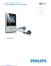 philips gogear sa2vbe04 manuals rh manualslib com User Guide Template Example User Guide