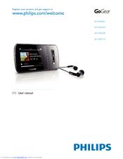 philips sa1ara08k gogear aria 8 gb digital player manuals rh manualslib com Philips GoGear Aria 8GB