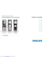 Philips Voice Tracer DVT5500 User Manual