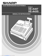 Sharp XE-A43S Manual Del Instrucción