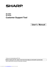 Sharp XE-A43S User Manual