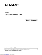 sharp customer support tool manuals rh manualslib com Sharp Compet QS-2760H Sharp View Cam Cameras