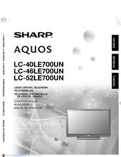 sharp aquos lc 40le700un manuals rh manualslib com KB Sharp 6525P5 Sharp ER-A170
