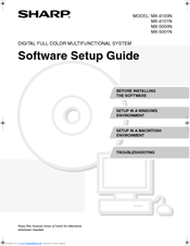 Sharp MX-5001N Software Setup Manual