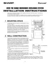 Sharp R-1880L Installation Manual