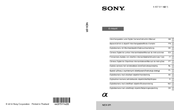 Sony Alpha NEX-5R Instruction Manual