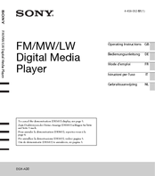 Sony DSX-A30 Operating Instructions Manual