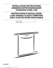 Whirlpool WDT910SSYB Installation Instructions Manual