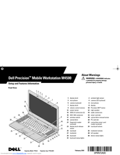 Dell Precision M4500 Setup & Features Manual