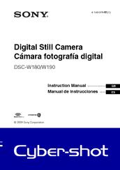 sony dsc w180 cyber shot digital camera instruction manual pdf rh manualslib com Sony Cyber-shot DSC- TX30 Sony Cyber-shot DSC- RX100