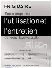Frigidaire FFBD2407LM Utilisation Et L'entretien