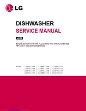 lg lds5811st 24 in dishwasher finish service manual pdf download rh manualslib com LG Dishwasher Zbd0710n00ss Undercounter LG LDF6810ST Door Spring Repair