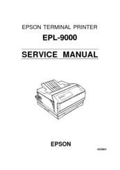 epson epl 9000 terminal printer service repair manual