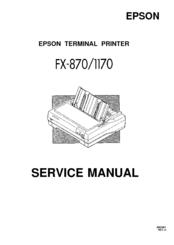 epson fx 1170 b w dot matrix printer service manual pdf download rh manualslib com tvs dot matrix printer repair manual dot matrix printer service manual pdf