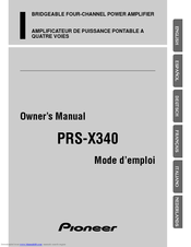 pioneer prs x340 manuals manuals and user guides for pioneer prs x340 we have 4 pioneer prs x340 manuals available for pdf owner s manual catalog service manual