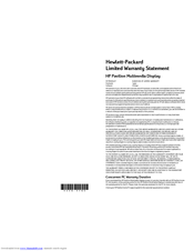 HP D5063H F50 Limited Warranty Statement