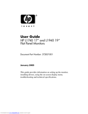 HP L1740 User Manual