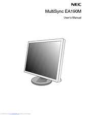 NEC MultiSync EA190M User Manual
