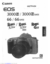 Canon Eos 3000n Date Manuals Manualslib