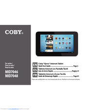 coby kyros mid7046 series manuals rh manualslib com Coby Kyros Tablet Charger Coby Kyros Android Tablet