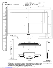 Sony Kdl 32bx300 Bravia Bx Series Lcd Television Manuals