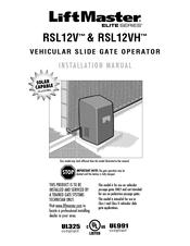 chamberlain elite rsl12v manuals