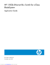 HP 1:10GbE Application Manual