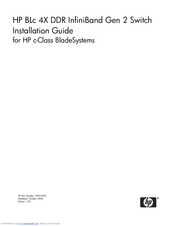 HP 489183-B21 - InfiniBand DDR Switch Installation Manual