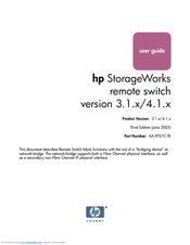 HP A7340A - Surestore FC 1Gb/2Gb Switch 16B User Manual