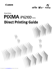 Canon iP6210D - PIXMA Color Inkjet Printer Printing Manual