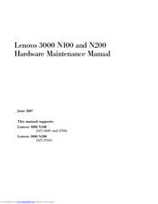 Lenovo 3000 N100 Hardware Maintenance Manual