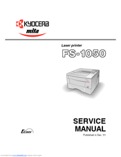KYOCERA FS-1050 - B/W LASER PRINTER SERVICE MANUAL Pdf Download