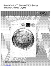 bosch wtvc533cus operating manual pdf download rh manualslib com Tumbler for Dryer Wtmc6500uc Bosch bosch nexxt 800 series dryer troubleshooting