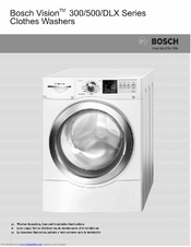 bosch wfvc5400uc vision 500 series front load operating and rh manualslib com bosch vision 500 series washer user manual bosch vision 500 washer user manual