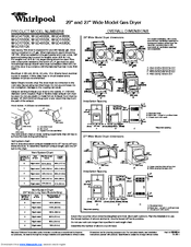 Whirlpool WGD4900XW Product Dimensions