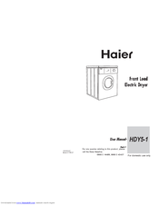 Haier HDY5-1 User Manual