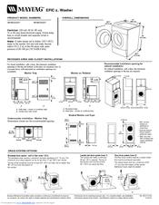 Maytag Mhwz600tk 27 In Front Load Washer Manuals