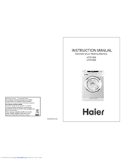 Haier HTD1268 Instruction Manual