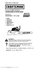 craftsman 18 40cc chainsaw manual