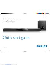 Philips Htl2101 F7 Quick Start Manual 14 Pages Soundbar Speaker