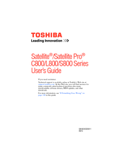 Toshiba L850-ST3NX1 User Manual