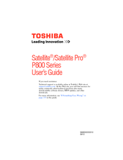 Toshiba P855-S5102 User Manual